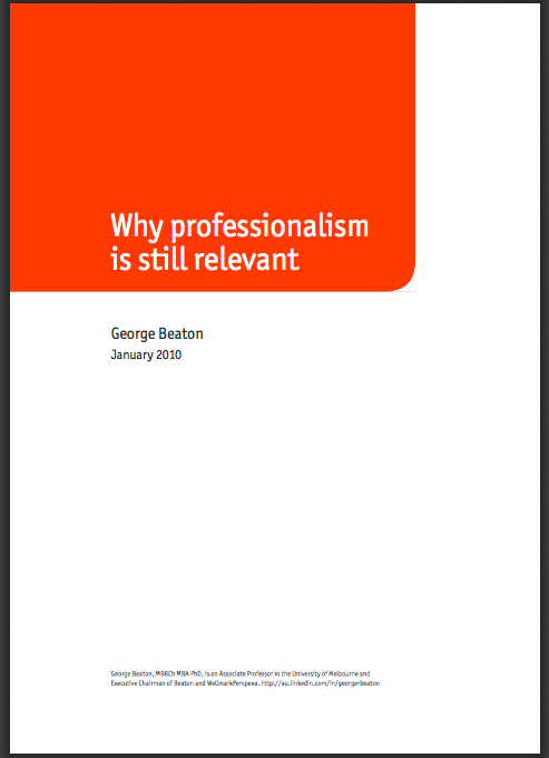 what is professionism essay Since an ems professional has to come in contact with all sorts of people, the job demands a lot of professionalism (iserson, sanders, & mathieu, 1995).